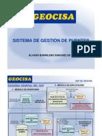 Sistema de Gestión de Puentes. Alvaro Barrilero GEOCISA