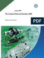 SSP 299 6 Sp Manual Gearbox 08D