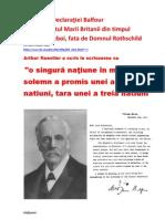 În spatele Declaraţiei Balfour