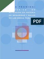 GUÍA TÉCNICA -CRITERIOS DE ACTUACIÓN EN MATERIA DE SEGURIDAD Y SALUD EN LAS OBRAS PÚBLICAS
