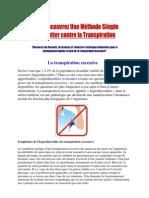 tache transpiration - sauge transpiration