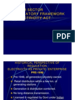 Power Sector Regulatory Framework