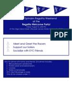 Final Regatta Welcome Party Invite 2012