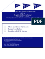 Final Regatta Welcome Party Invite 2012