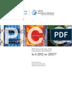 PCS Second Quarter 2012 Catastrophe Bond Report