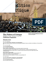 CSRG the Politics of Critique Conference Programme