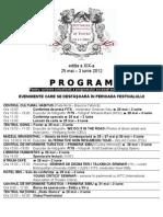Program Festivalul International de Teatrul Sibiu 2012