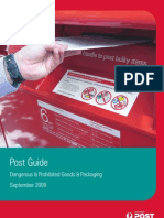Dangerous Prohibited Goods Packaging Post Guide