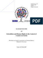 Extradition and Human Rights in the Context of Counter-terrorism