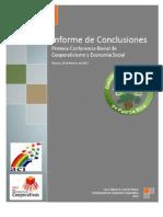 Informe 1era Conferencia Bienal de Desarrollo Cooperativo y Economía Social - Viernes, 25 de Febrero de 2012