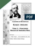 Cuaderno de Analisis Tema 1 Funciones Reales de Variable Real