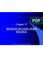 Chapter 17 Sources of Long Term Finance