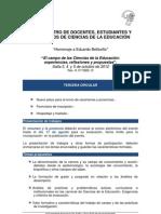3ra Circular | IV Encunetro | DEyGCE | UNSa 2012