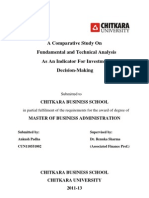 A Comparative Study On Fundamental and Technical Analysis As An Indicator For Investment Decision-Making
