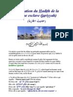 Explication Du Hadith de La Femme Esclave (Al-jariyyah)