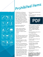 Prohibited/Restricted items at Olympic Games