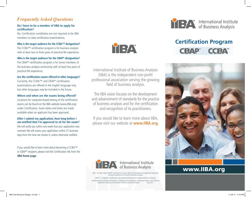 certification iiba