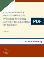 Promoting Workforce Strategies for Reintegrating Ex Offenders