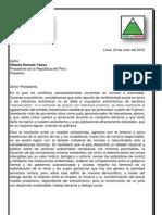 Nueva Mineria - Carta y Propuesta de Tierra y Libertad y La Central Unitaria de Trabajadores
