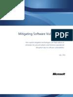 Mitigating Software Vulnerabilities