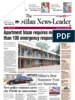 The Milan News-Leader Front Page