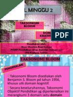 Isl Minggu 2 Taksonomi Bloom dan Domain Krathwohl