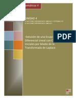 4.2 Solucion de Un Sistema de ED Con Condiciones Iniciales Por Medio de La TP