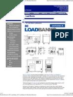 Portable Resistive DC Load Banks, DC Load Banks by Mosebach Resistors