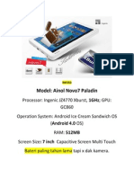 Tablet Full Spec
