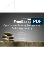 Open Systems Enabling Transparency Leapfrog