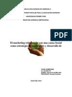 El Marketing Relacionado Con Una Causa Social Como Estrategia de Crecimiento y Desarrollo de Mercado(Individual)