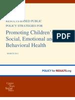 Promote Childrens Social Emotional and Behavioral Health