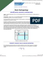 Basic Hydrogeology
