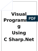 Visual C#.net Theory Notes