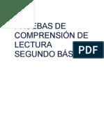 PRUEBAS DE COMPRENSIÓN DE LECTURA 2°