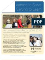 2009-2010 Annual Assessment | Thayne Center for Service & Learning