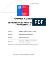 Formatos y Anexos Proyectos de Pavimentacion