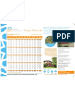 Prayer Timetable Jul/Aug