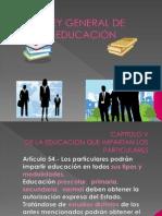 CAPITULO V ley general de educacion .ppt