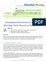 Developmental History of Christian Worship 1