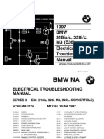 38733599 BMW 318iS 325i E36 MY1997 Electrical Troubleshooting Manual