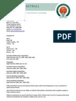Academic and Basketball CV