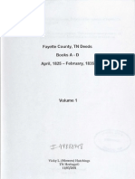 Index to Fayette County, TN Deeds