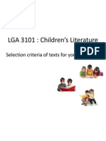 LGA 3101 Selection Criteria of Texts