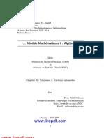 Chapitre III Polynomes et  Fractions Rationnelles