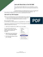 Autocad Sheet Sets in Civil 3d 2008 Sm