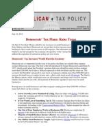Democrats Tax Plans
