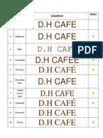 Cafe Logo FOnt List