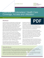 Coloradans' Health Care Coverage, Access and Utilization:Overview