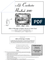 Pro-Life Coordinator Handbook 2010 - Office of Marriage & Family, Diocese of Saint Cloud